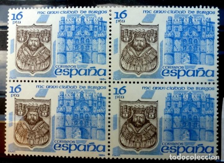 SELLOS ESPAÑA 1984- FOTO 742- Nº 2743,BL. 4 SELLOS, NUEVO (Sellos - España - Juan Carlos I - Desde 1.975 a 1.985 - Nuevos)