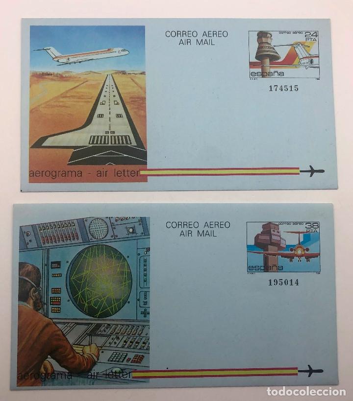 1984 ESPAÑA. AEROGRAMAS (EDIF.207/208) (Sellos - España - Juan Carlos I - Desde 1.975 a 1.985 - Nuevos)