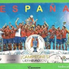 Sellos: EDIFIL 4757 H.B. COPA DE LA UEFA EURO 2012. ¡CAMPEONES!. (2012).. Lote 178715796