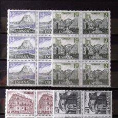 Sellos: 2900-3, SEIS SERIES NUEVAS, SIN CH., EN CUATRO BLOQUES. TURISMO.. Lote 178858398