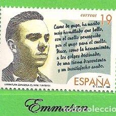 Sellos: EDIFIL 3356. LITERATURA ESPAÑOLA. PERSONAJES DE FICCIÓN. (1995).** NUEVO SIN FIJASELLOS.. Lote 178889872