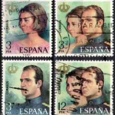 Sellos: ESPAÑA - 1 SERIE (4 VALORES) - EDIFIL:#2302-05 - DON JUAN CARLOS Y DÑA. SOFIA - AÑO 1975 -USADOS. Lote 179064883
