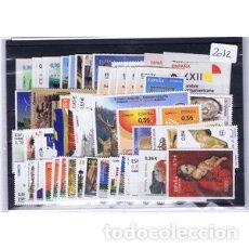 Sellos: SELLOS ESPAÑA AÑO COMPLETO 2012 INCLUYE SELLOS, CARNETS Y HB. DESCUENTO SOBRE FACIAL. Lote 179121870