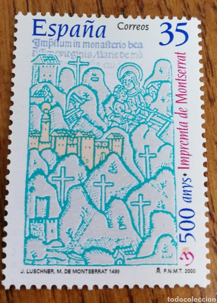ESPAÑA : N°3696 MNH, 500 AÑOS DE LA IMPRENTA DE MONTSERRAT, 2000 (Sellos - España - Juan Carlos I - Desde 2.000 - Nuevos)