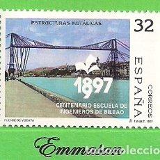 Sellos: EDIFIL 3479. ESTRUCTURAS METÁLICAS - PUENTE DE VIZCAYA. (1997).** NUEVO SIN FIJASELLOS.. Lote 179170167