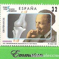 Sellos: EDIFIL 3481. CENTENARIOS - NACIMIENTO DE JOSEP TRUETA I RASPALL. (1997).** NUEVO SIN FIJASELLOS.. Lote 179170691