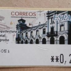 Francobolli: NUEVO - ATM - ARQUITECTURA POSTAL - LOGROÑO - T 77 - 2002 -5 DIGITOS. Lote 179173218