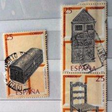 Sellos: ESPAÑA .1991 , 3 SELLOS USADOS ARTESANÍA ESPAÑOLA MUEBLES.. Lote 179214182