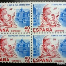 Sellos: SELLOS ESPAÑA 1984- FOTO 755- Nº 2775, BL. 4 SELLOS, NUEVO. Lote 179264998