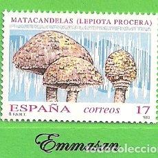 Sellos: EDIFIL 3244. MICOLOGÍA - MATACANDELAS. (1993).** NUEVO SIN FIJASELLOS.. Lote 179326423