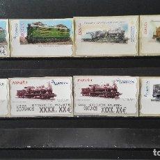 Sellos: 8 ATMS DE TRENES DE AJUSTE Y BLANCOS. Lote 179334063