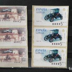 Sellos: 6 ATMS NUEVAS CON VALORES EN PESETAS. Lote 179334192