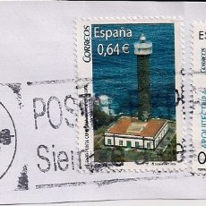 Sellos: FRAGMENTO CON SELLOS FARO ISLA DE LA PALMA 2010 Y ARQUITECTURA 2009. FECHADOR LA NEGRILLA-SEVILLA. Lote 179338978
