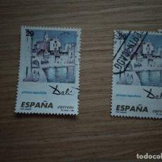 Sellos: 2 SELLOS SELLO ESPAÑA USADO. 1994. EDIFIL Nº 3291. PINTURA ESPAÑOLA. DALI. PORT ALGUER.. Lote 180016980