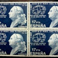Sellos: SELLOS ESPAÑA 198-FOTO 768- Nº 2824- BL. 4 SELLOS, NUEVO. Lote 180019480