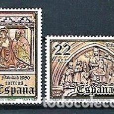 Sellos: ESPAÑA,1980,SELLOS DE NAVIDAD,NUEVOS,MNH**, EDIFIL 2593-2594. Lote 180021256