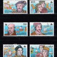 Sellos: ESPAÑA 1987 - EDIFIL 2919/24** - V CENTENARIO DEL DESCUBRIMIENTO DE AMÉRICA. Lote 180043103