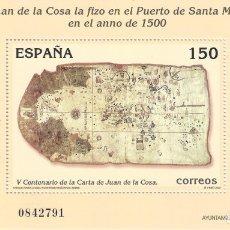 Sellos: EDIFIL 3722 V CENTENARIO DE LA CARTA DE SAN JUAN DE LA COSA 2000. MNH **. Lote 180043436