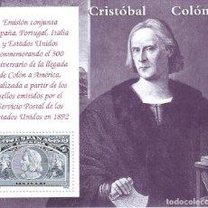 Sellos: EDIFIL 3204 COLÓN Y EL DESCUBRIMIENTO 1992 (HOJITA). MNH**. Lote 180043537