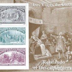 Sellos: EDIFIL 3208 COLÓN Y EL DESCUBRIMIENTO 1992 (HOJITA). MNH**. Lote 180043618