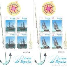 Sellos: EDIFIL 3477-3478 BARCOS DE ÉPOCA 1997 (SERIE COMPLETA. DOS HOJITAS) . MNH **. Lote 180074057