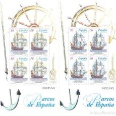 Sellos: EDIFIL 3352-3353 BARCOS DE ÉPOCA 1995 (SERIE COMPLETA. DOS HOJITAS). MNH **. Lote 180074073