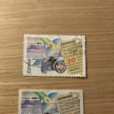 Sellos: EDIFIL 3363 CENTENARIO ASOCIACIÓN DE LA PRENSA DE MADRID. AÑO 1995. Lote 180121635