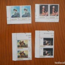 Sellos: LOTE 4X2 SELLOS GOYA. LA LECHERA, GENERAL RICARDOS, NIÑOS, 2 DE MAYO. 1996. NUEVOS, SIN CHARNELA. Lote 180191097