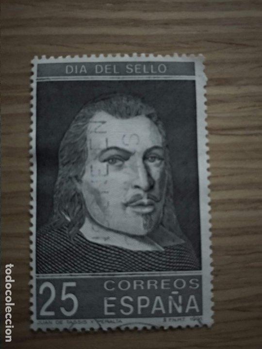 SELLO ESPAÑA USADO. 1991. EDIFIL 3110. DÍA DEL SELLO - RETRATO DE JUAN DE TASSIS Y PERALTA. (Sellos - España - Juan Carlos I - Desde 1.986 a 1.999 - Usados)