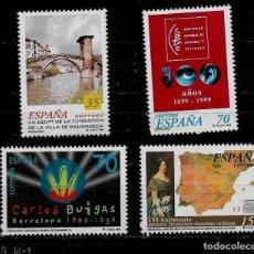 Sellos: JUAN CARLOS I - EDIFIL 3651-54 - 1999 - CENTENARIOS. Lote 180262017