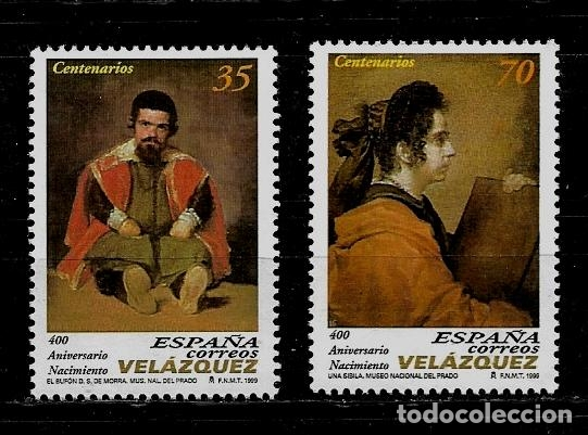 JUAN CARLOS I - EDIFIL - 3658-59 - 1999 - 400 ANIVERSARIO DEL NACIMIENTO DE DIEGO VELAZQUEZ (Sellos - España - Juan Carlos I - Desde 1.986 a 1.999 - Nuevos)
