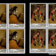 Sellos: JUAN CARLOS I - EDIFIL 3658-59 - 1999 - 400 ANIV. DEL NACIMIENTO DE DIEGO VELAZQUEZ-BLOQUE DE CUATRO. Lote 180263600