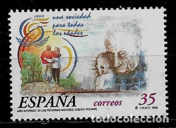 JUAN CARLOS I - EDIFIL 3660 - 1999 - AÑO INTERNACIONAL DE LAS PERSONAS MAYORES (Sellos - España - Juan Carlos I - Desde 1.986 a 1.999 - Nuevos)