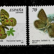 Sellos: JUAN CALOS I DESDE 2000 - EDIFIL 3694-95 - 2000 - FAUNA ESPAÑOLA EN PELIGRO DE EXTINCION. Lote 180266913