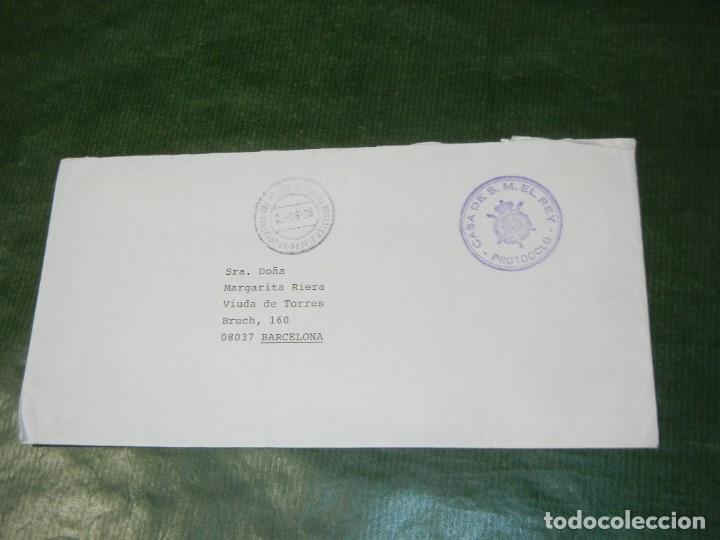 FRANQUICIA CASA DE S.M. EL REY PROTOCOLO - JEFATURA DEL ESTADO SERVICIOS POSTALES 1995 (Sellos - España - Juan Carlos I - Desde 1.986 a 1.999 - Cartas)
