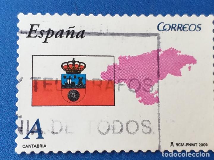 USADO. AÑO 2009. EDIFIL 4447. AUTONOMIAS. CANTÁBRIA. (Sellos - España - Juan Carlos I - Desde 2.000 - Usados)