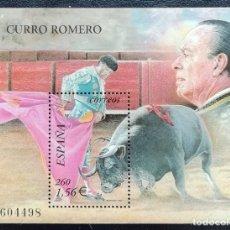 Sellos: 2001. ESPAÑA. 3834. TOROS. TOREO DE CAPA: LA VERÓNICA. CURRO ROMERO. SELLO EN HB. NUEVO.. Lote 180459022