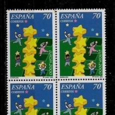 Sellos: JUAN CARLOS I - EDIFIL 3707 - 2000 - EUROPA 2000 - BLOQUE DE CUATRO. Lote 180490950