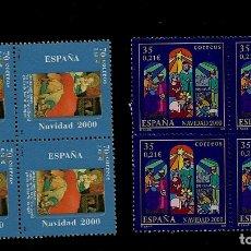 Francobolli: JUAN CARLOS I - EDIFIL 3769-70 - 2000 - NAVIDAD - BLOQUE DE CUATRO. Lote 180498532