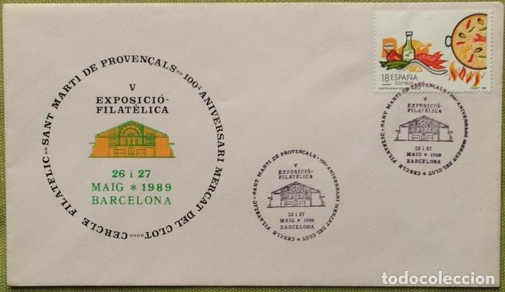 ESPAÑA SPAIN AÑO 1989 EDIFIL 2935 SOBRE PRIMER DÍA FIRST DAY COVER (Sellos - España - Juan Carlos I - Desde 1.986 a 1.999 - Cartas)