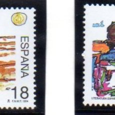 Sellos: ESPAÑA. AÑO 1994.- LITERATURA ESPAÑOLA, SERIE COMPLETA EN NUEVO. Lote 180855630