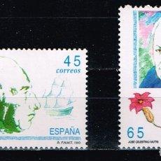 Sellos: ESPAÑA 1993 - EDIFIL 3267/68** - EXPLORADORES Y NAVEGANTES. Lote 180895155