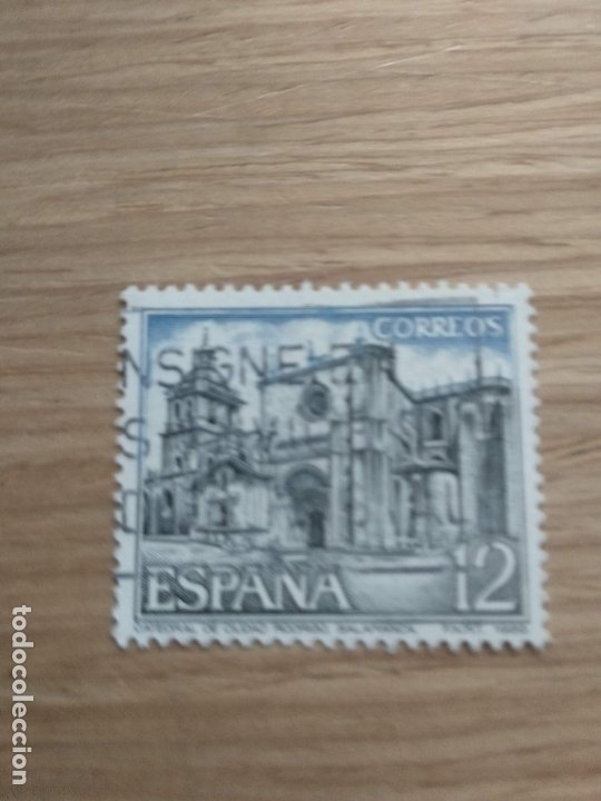 SELLO CATEDRAL DE CIUDAD RODRIGO SALAMANCA ESPAÑA 1986 (Sellos - España - Juan Carlos I - Desde 1.986 a 1.999 - Usados)