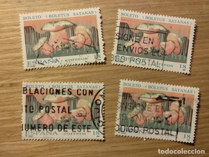 USADOS . SETAS. BOLETO. BOLETUS SATANAS. EDIFIL 3279. (Sellos - España - Juan Carlos I - Desde 1.986 a 1.999 - Usados)