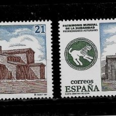 Sellos: JUAN CARLOS I - EDIFIL 3508-09 - 1997 - BIENES CULTURALES Y NATUREALES PATRIMONIO MUNDIAL . Lote 181134932