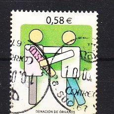 Sellos: ESPAÑA 4335 USADA, VALORES CIVICOS, DONACION DE ORGANOS,. Lote 181213750