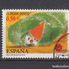 Sellos: ESPAÑA 3896 USADA, EUROPA, CIRCO, PAYASO,. Lote 181214552