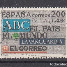 Sellos: ESPAÑA 3766 SH USADA, EXPOSICION MUNDIAL DE FILATELIA ESPAÑA 2000. PRENSA . Lote 181214961