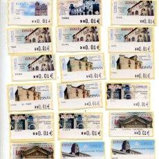 Sellos: LOTE DE 26 ETIQUETAS ATM - TEMA ARQUITECTURA POSTAL - VALORES MINIMOS - SON LAS DE LA FOTO. Lote 181614428