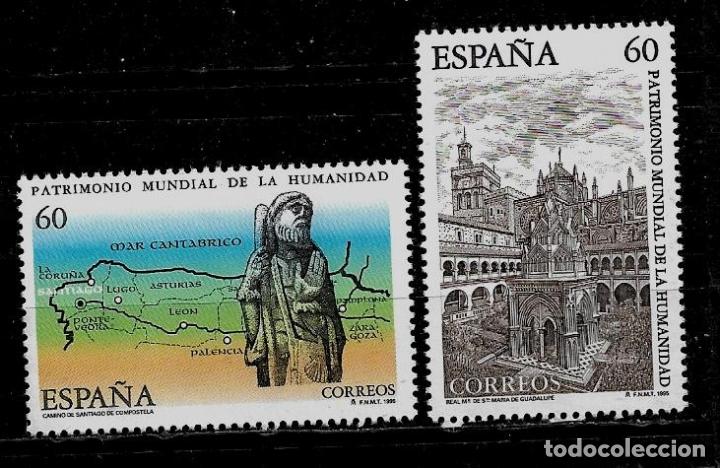 JUAN CARLOS I - EDIFIL 3390-91 - 1995 -BIENES NATURALES Y CULTURALES PATRIMONIO MUNDIAL (Sellos - España - Juan Carlos I - Desde 1.986 a 1.999 - Nuevos)